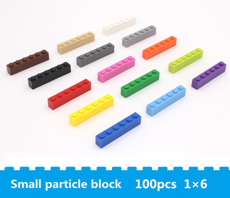 Высококачественные Строительные базовые кирпичи 1*6, игрушки «сделай сам», модель для раннего обучения, строительные модели, совместимые с б...