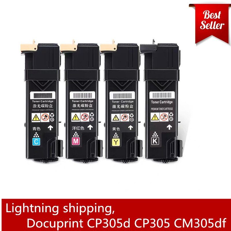 CP305 CM305 شعبية في جنوب شرق آسيا وأوقيانوسيا اللون الحبر متوافقة فوجي رقاقة حبر ماكينة الطباعة زيروكس CP305 CP305d CM305 CM305D CM305DF