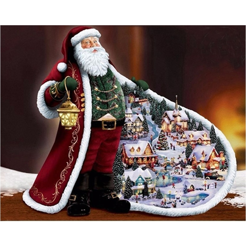 DIY diamond painting Santa Claus diamond Embroidery animals Cross Stitch Mosaic Father Christmas Painting Home Decoration