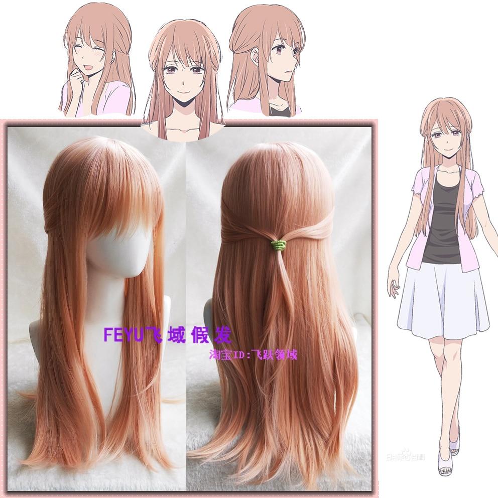 Scum's Wish Kuzu no Honkai Cosplay Wig Minagawa Akane Long Straight Synthetic Hair