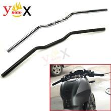 "Motorcycle Black 22MM 7/8"" Drag Handlebar Hand Bar For Geniune Ducati Monster 696 Multistrada 620 1200 795 796 821 S2R S4R S4RS"