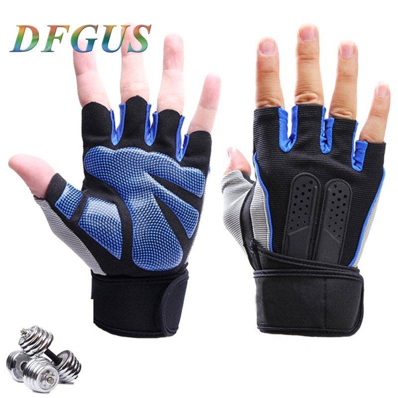 High Quality Sports Gym Gloves Wrist Weights Fitness Men Gloves Half Finger Breathable Anti-skid Silica Women Gloves anti skid sports half finger care palms fitness gloves training dumbbell hand protector fitness equipment