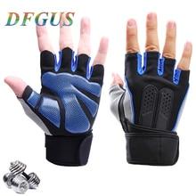 Gants de sport de haute qualité poids   De poignet, gants de Fitness pour hommes, demi-doigt respirants, gants antidérapants en silice pour femmes