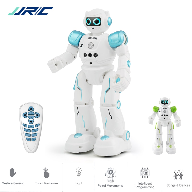 JJRC R11 التعليمية روبوت لعبة ذكي برمجة المشي الموسيقى الرقص القتالية المدافع روبو الاطفال Robotica كيت Rc روبوت