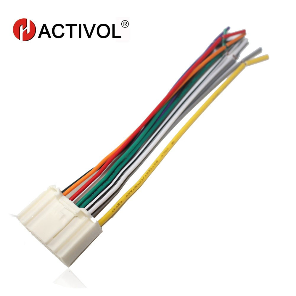 Car Radio Stereo ISO Plug Power Adapter Wiring Harness for Nissan Tiida x-trail Qashqai Universal ISO harness power cable