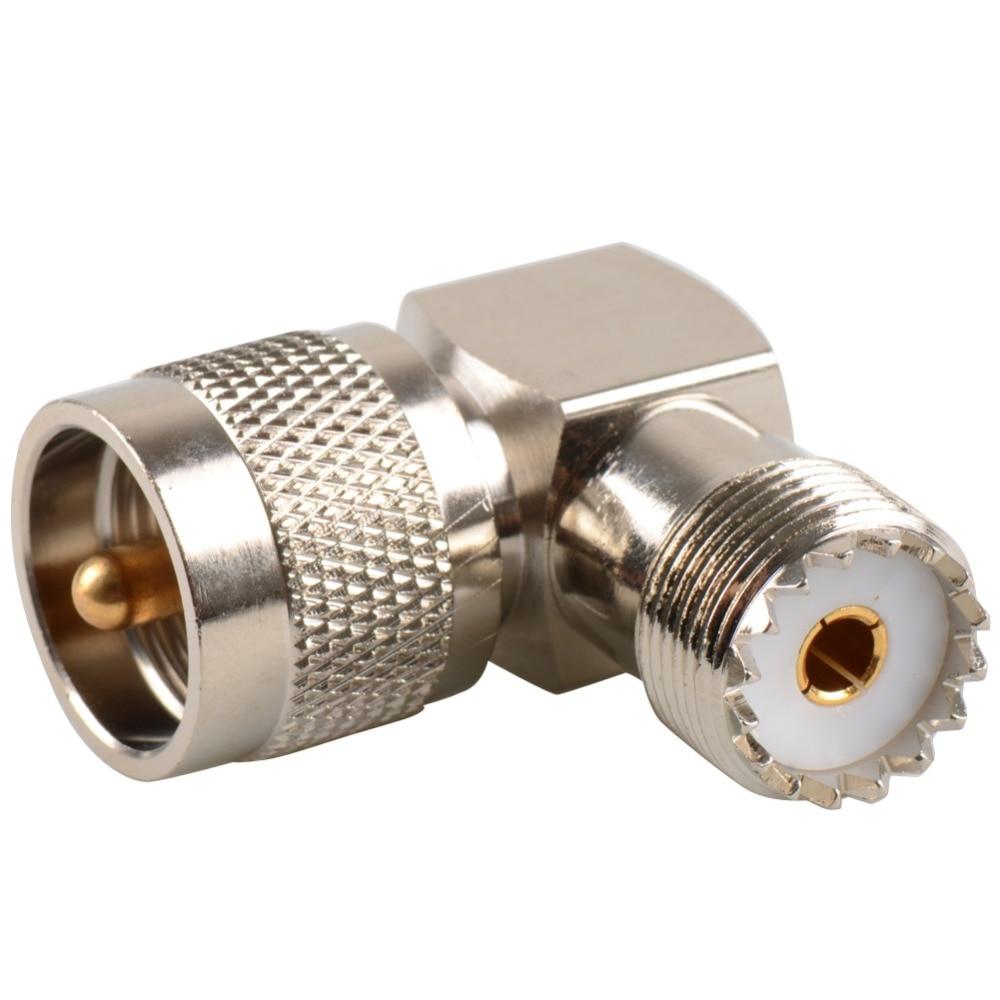 Разъем UHF для штекера PL259 на SO239, гнездовой разъем под прямым углом, 90 градусов