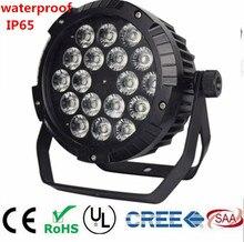 Lumières de pair de led étanche de 18x18W RGBWA UV 6IN1 18X12W IP65, lumières de disco déquipement de DJ détape de contrôle de DMX de pair de RGBW 4in1 LED