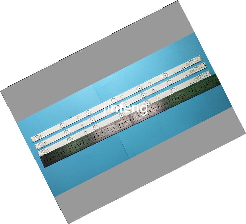 Nuevo Kit de 3 piezas 7LED 615mm de tira de luz LED para Sony KDL-32R300B 32PHT4509/12 TPT315B5 GJ-DLEDII P5-315 D307-V7 V1 v6 715B0059L01000004