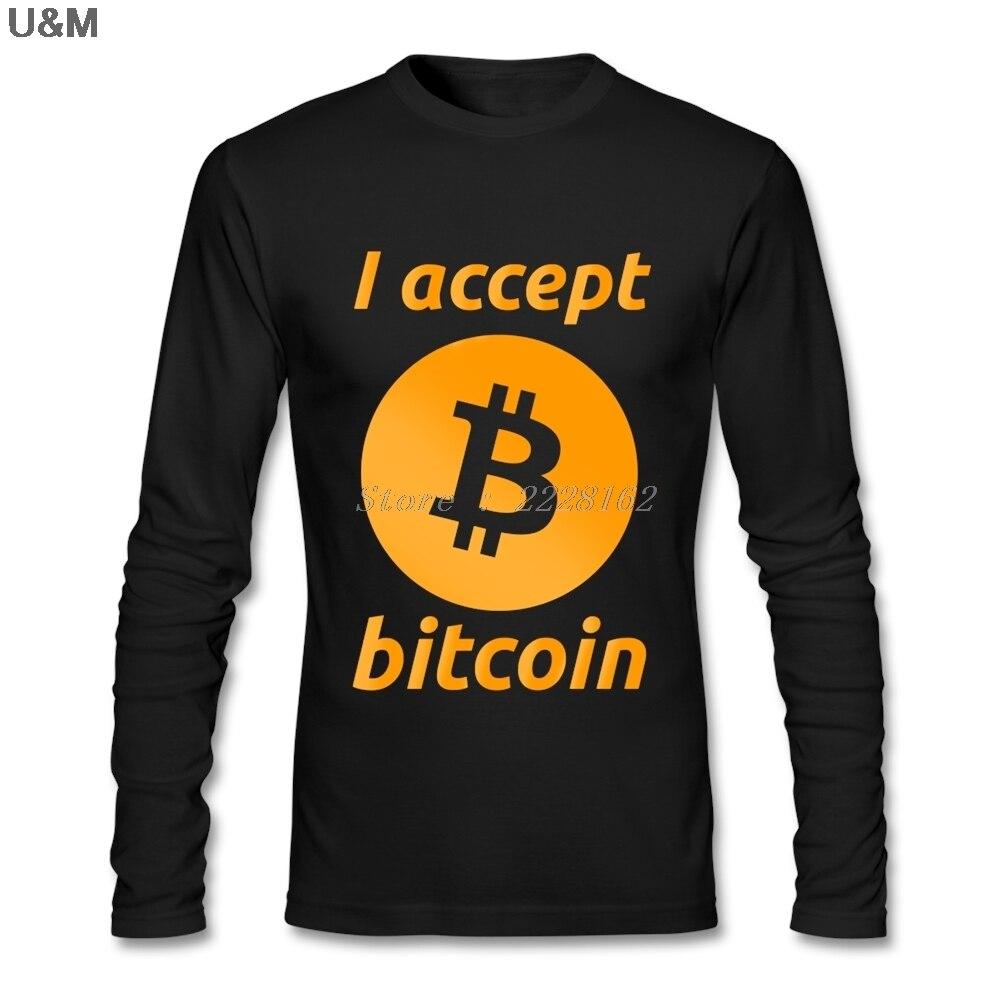 خمر نمط الرجال أقبل Bitcoin تي شيرت اليونانية الفني قمصان النقدية تي شيرت XS-3XL بأكمام طويلة T قميص الكبار 100% القطن الكامل