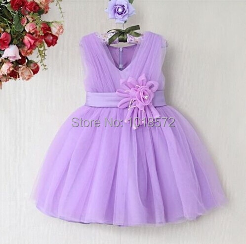 2018 new children s costumes sixty one high end custom flower girl dresses 2 14year gift children s performing princess dress 2017 Brand New Flower Girl Dresses V Neck Party Pageant Communion Dress for Little Girl Kids/Children Princess Dress for Wedding