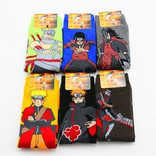 Japonais Anime Naruto Uzumaki Naruto femmes hommes Cosplay chaussettes Pein Uchiha Madara Harajuku chaussettes Halloween COS accessoires 6 paires/lot