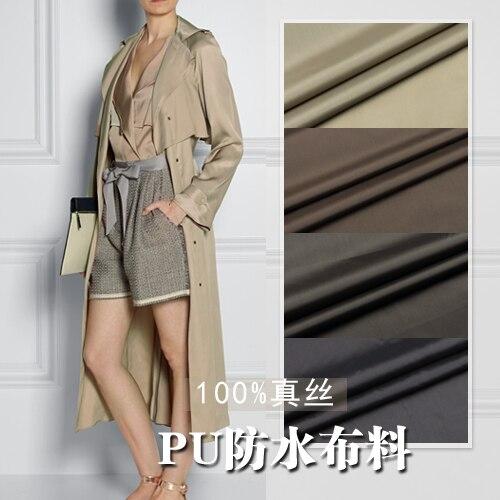 Tela de poliuretano impermeable personalizada avanzada 21mom tela de seda de morera tela de protección radiación ultravioleta