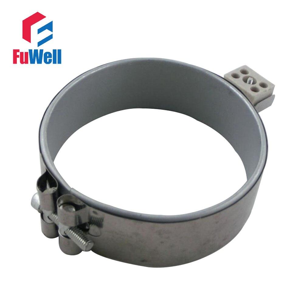 Banda calefactora de acero inoxidable de 60x65mm 220V 370W elemento calefactor de Mica para máquina de inyección