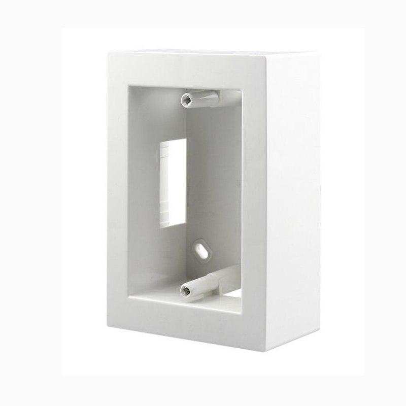 10 unids/pack blanco nos italiano/118 tipo caja de montaje interior cinta tipo de interruptor y enchufe instalar cableado caja trasera