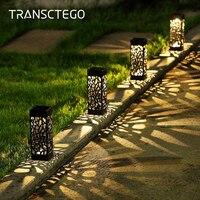 Светодиодный декоративный садовый фонарик на солнечной батарее, уличное освещение для газона, дома, дорожесветильник с сенсором освещения,...
