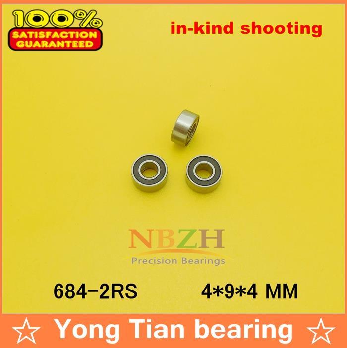 50 pcs free shipping thin wall deep groove ball bearing 684-2RS 4*9*4 mm ABEC-5