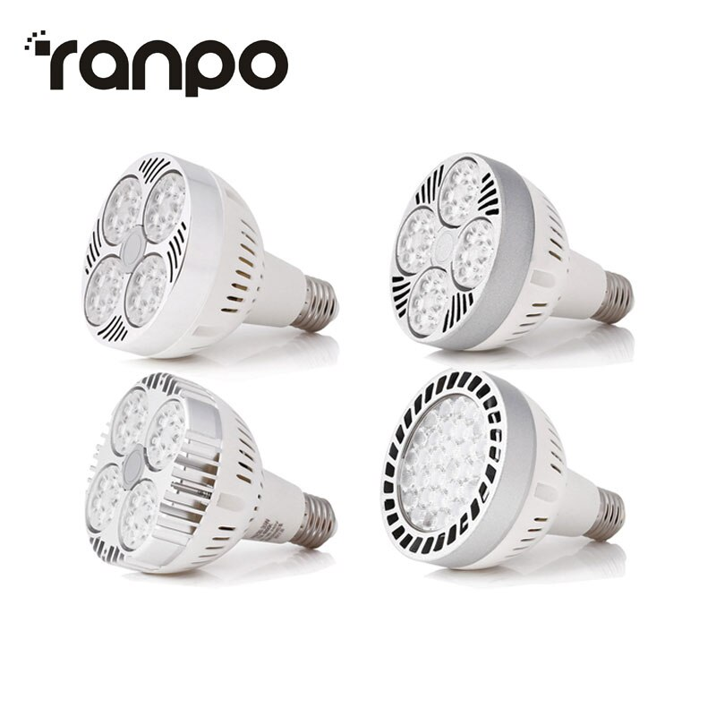 Bright PAR30 35W E26/E27 Chips de foco LED 35W bombilla de seguimiento AC110V-265V 180V-240V luces de bombilla neutra cálida blanca