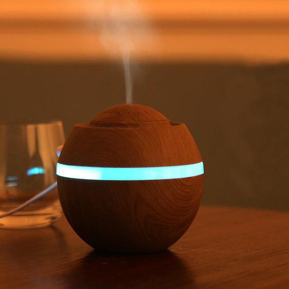 20 #500ml Aroma humidificador purificador del aire del Led de 7 colores cambiando de difusor del aceite esencial nebulizador Usb fabricante de la niebla con Led lámpara de noche