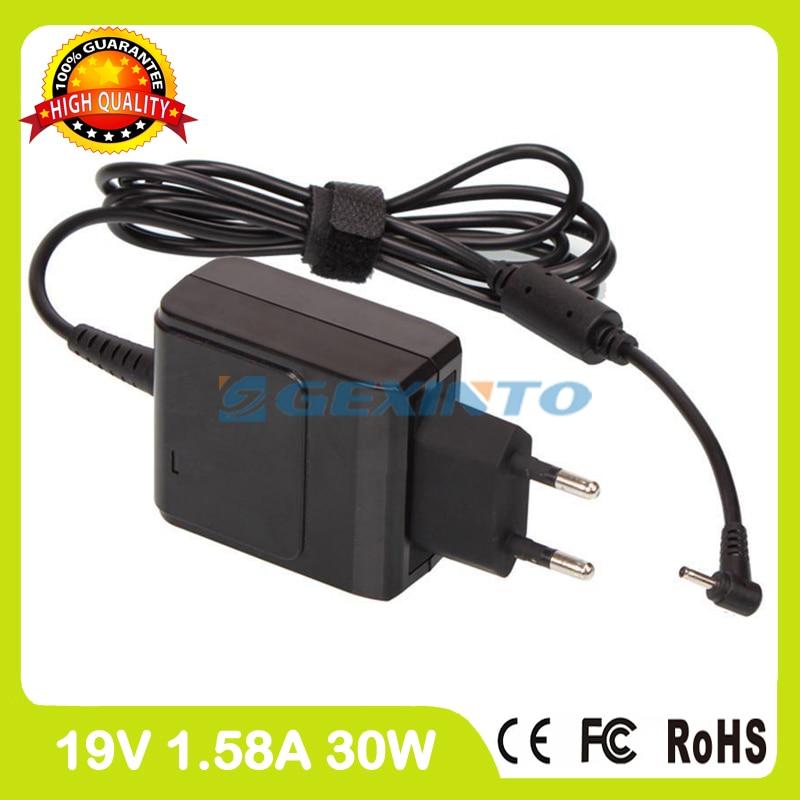 19 V 1.58A EXA1004EH AD82030 portátil cargador adaptador de corriente para el Asus Eeepc 1008KR R051PD R051PED 1008PGO R051PEM 1008PB enchufe de la UE