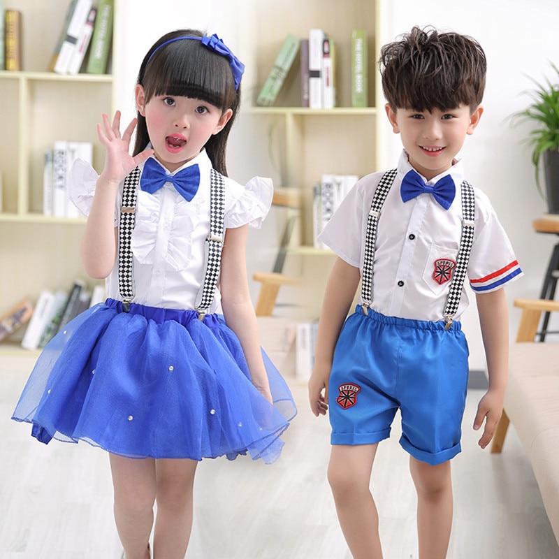 Детские костюмы, одежда для хора, униформа для мальчиков и девочек, детские костюмы, танцевальные костюмы для детского сада, нагрудник