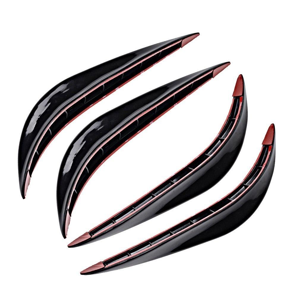 2PCS Car crash bar rubber bumper Auto decoration strip for Vauxhall Adam Astra Vectra VXR8 / Smart Forfour Fortwo Roadster