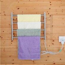 Saludable salón baño accesorios cromo calentador toallero Acero inoxidable calentador riel cuadrado 4 barras