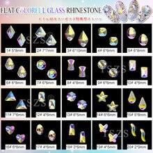 15 шт./лот украшения для ногтей цветные плоские стеклянные стразы для женщин