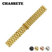 18mm 20mm 22mm 23mm 24mm Bracelet de montre en acier inoxydable pour Orient libération rapide Bracelet en métal boucle de poignet ceinture Bracelet noir argent