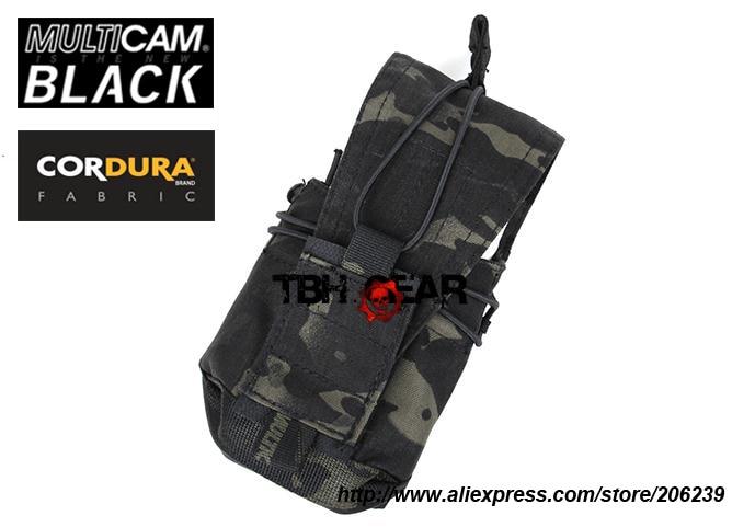 TMC 556 762 MBITR Pouch Multipurpose Military Tactical MOLLE Pouches Cordura Multicam Black(SKU12050653)