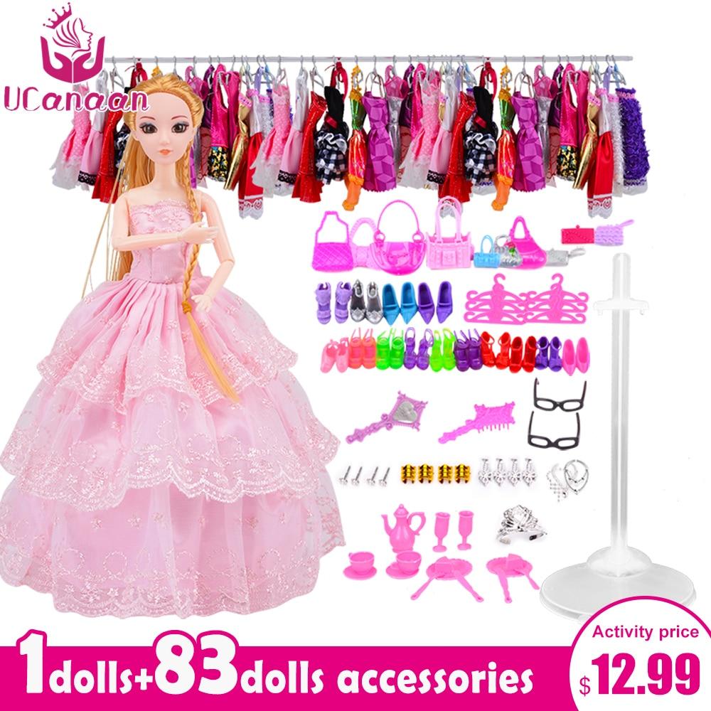 UCanaan кукла с 83 аксессуарами DIY Dressup Игрушки для девочек модницы конечной моды принцесса куклы набор