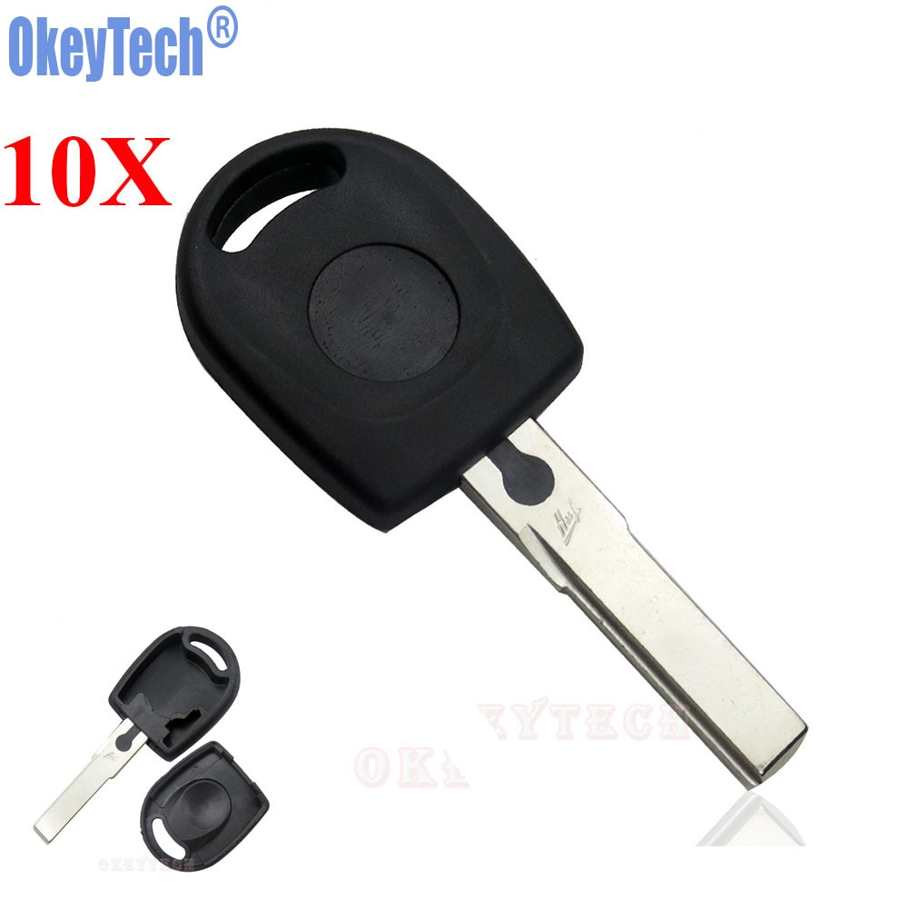 OkeyTech 10 шт./лот пустой корпус автомобильного ключа дистанционного управления для Volkswagen (VW) B5 Passat Transponder Key HU66 Blade Бесплатная доставка
