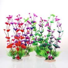 Plantes aquatiques artificielles sous-marine 24cm   4 couleurs, ornements Aquarium Aquarium réservoir deau verte, décoration de paysage, décoration dherbe verte