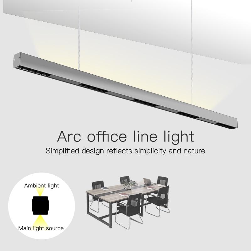 Deberían soltarme 36W 120cm lineal bar luz creativo led Rectangular lámpara en línea luz comercial para oficina moderna interior Ra>85 lámpara colgante