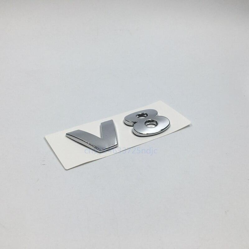 Para VW Volkswagen Passat CC Touareg Pheaton V8 cromo trasero insignia emblema pegatinas
