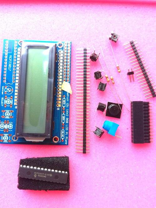 Punto 1109 RGB positivo LCD 16x2 + teclado Kit para Raspberry Pi