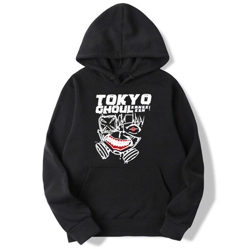 Sudaderas con capucha asiáticas de tamaño Tokio Ghoul Anime nuevas sudaderas divertidas de moda de Anime y sudaderas harajuku Hip Hop hombres MWT001