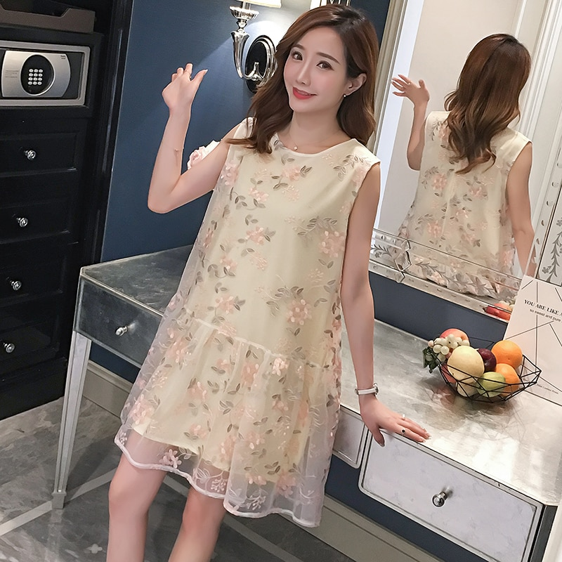 summer Chinese Embroidery Maternity Dresses Chiffon Cheongsam Pregnancy Dress Comfortable Maternity Clothes Christmas Gift Z784 enlarge