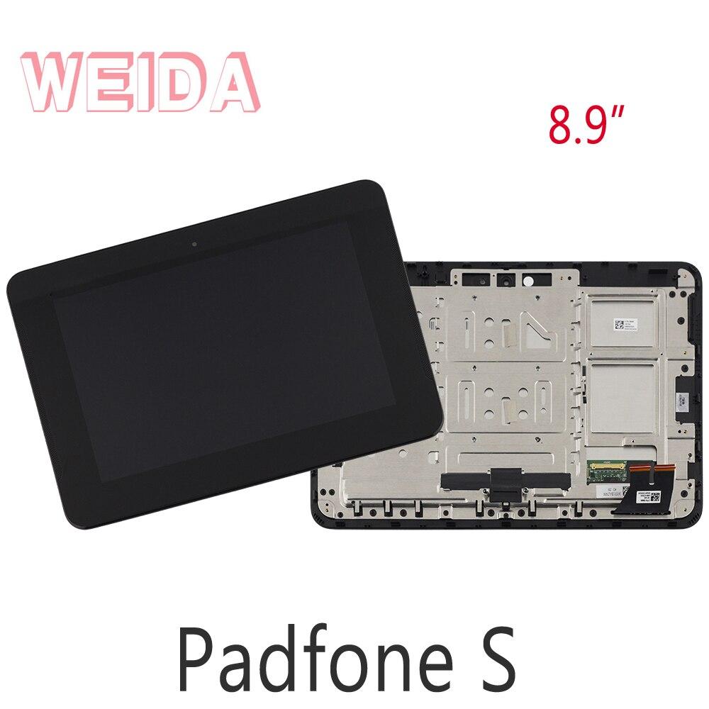 "WEIDA LCD 8,9 ""para Asus Padfone S PF500KL LCD pantalla táctil marco de montaje PF500KL"