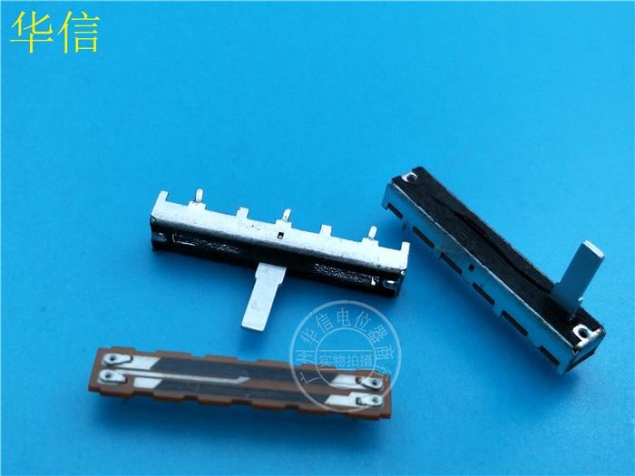 4 pcs SC-3042NT 45mm Deslizamento Fader Único Potenciômetro B100K/Com Torneiras Ponto Médio/Punho de Ferro 15MMC