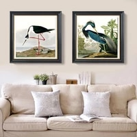 animal canvas print birds world giant poster canvas painting pastoral picture louisiana_heron long legged avocet by audubon