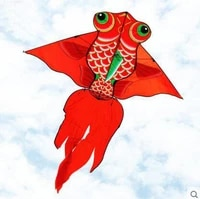 free shipping high quality 1 6m carp fish kite with handle line weifang kite flying dragon kite factory ripstop nylon fabric toy