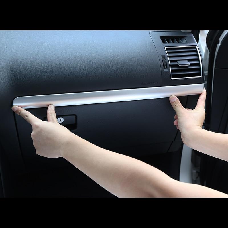 Cubierta de Control central de tablero frontal interior cromado mate para Toyota Land Cruiser Prado FJ150 2010-2018 Fit Left hand drive