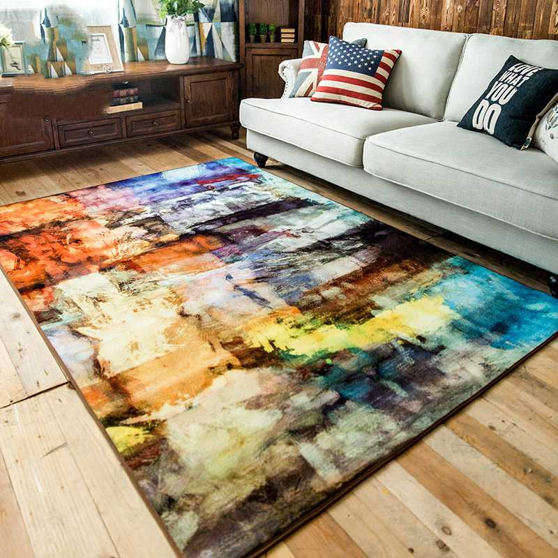 Alfombra abstracta moderna para sofá Kingart, alfombra gruesa para cuarto de Chico, tapete colorido, alfombra y alfombras para decoración para sala de estar