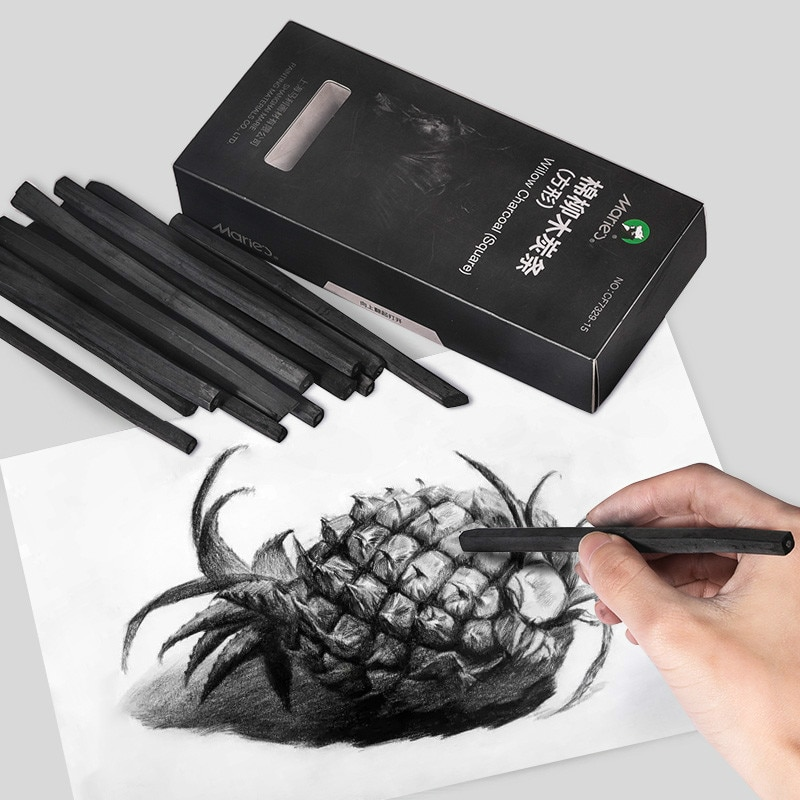 Marie's-lápiz de carbón Para Dibujo Profesional, 15 Uds., B