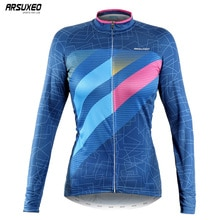 ARSUXEO frauen Frühling Herbst Langen Ärmeln Radfahren Jersey Pro MTB Fahrrad Kleidung Fahrrad Shirt Ciclismo Quick Dry Z6