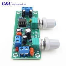 Preamplifier Stereo Tone Board NE5532 Subwoofer Filter DC 10-24V Low-Pass Preamplifier PCB Module