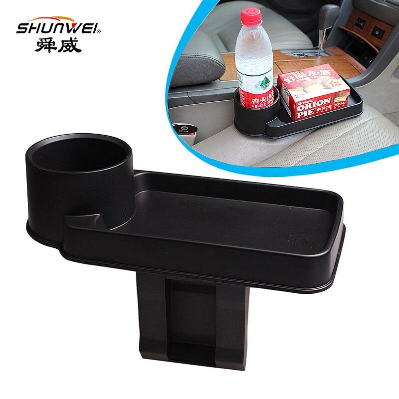 2018 portavasos para coche Portable multifunción para asiento de vehículo, soporte para teléfono móvil para bebidas, guantera, organizador Interior de coche