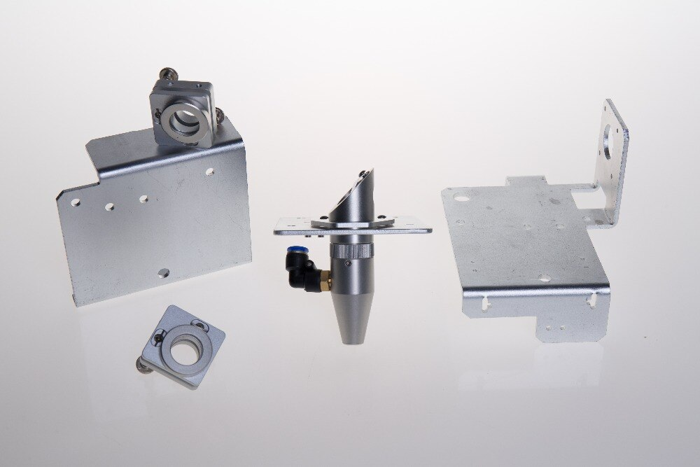 لوحات طرفية جسرية من سبائك الألومنيوم ، تركيب مرآة ليزر ، طقم تركيب عدسة عاكسة بالليزر ، 2X CNC