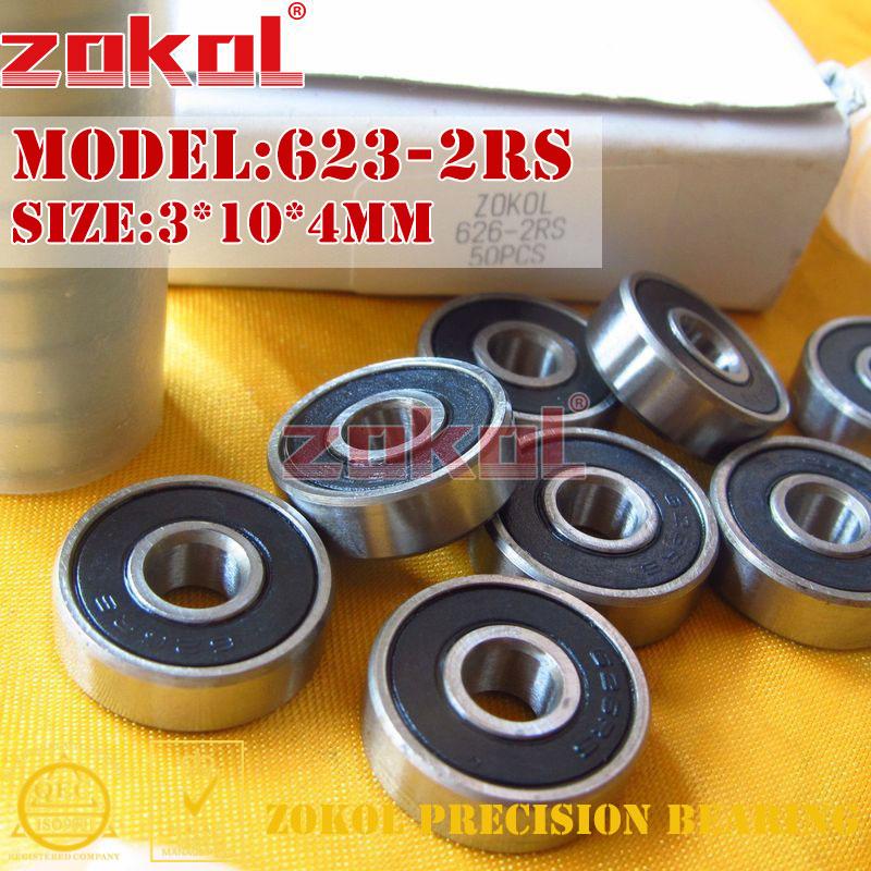 Подшипники ZOKOL 623 ZZ 2RS 623-2RS 623ZZ 623rs 623zz миниатюрные 623 RS Глубокие шаровые подшипники 3*10*4 мм