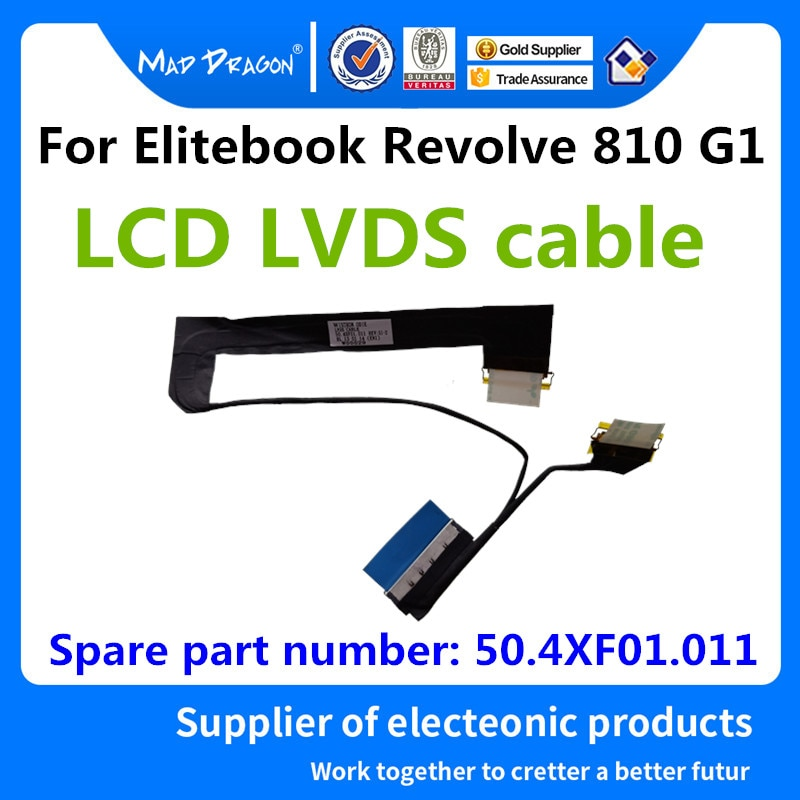 LOUCO DRAGÃO Marca Laptop Novo Original LCD cabo LCD LVDS cable Para HP Elitebook Revolve 810 G1 50.4XF01.001 50.4XF01.011